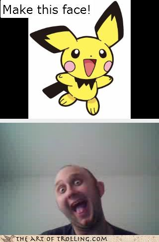 make this face,pikachu,Pokémon