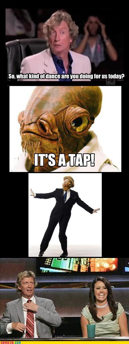 admiral ackbar,art,dance,expression,mon calamari,Music,star wars