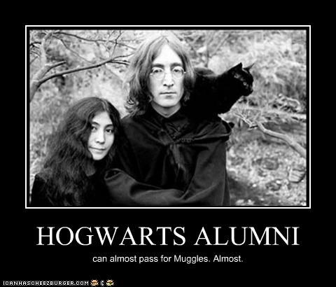 HOGWARTS ALUMNI can almost pass for Muggles. Almost.