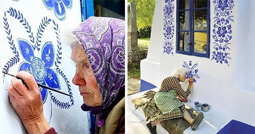 90 year old lady paints her hometown and inspires us all
