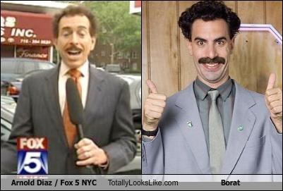 arnold diaz borat fox 5 nyc