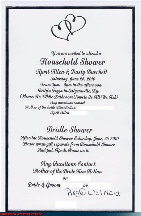 accident bridal shower bride bridle shower horse lady miscellaneous-oops SJP spelling error technical difficulties whoops