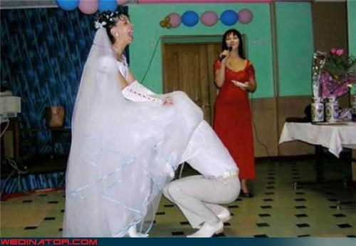 confused groom confusing Crazy Brides crazy groom eww fashion is my passion funny garter picture funny wedding photos Garter garter excavation garter retrieval laughing bride miscellaneous-oops surprise technical difficulties upskirt were-in-love wtf - 3614415104