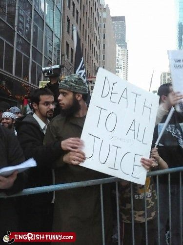juice,Protest,WoW