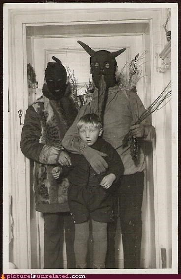 black and white,costume,kids,monster,scary,vintage,wtf