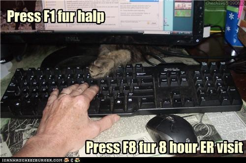 Press F1 fur halp Press F8 fur 8 hour ER visit Chech1965 090610