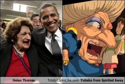 anime Helen Thomas journalist politics spirited away writer Yubaba