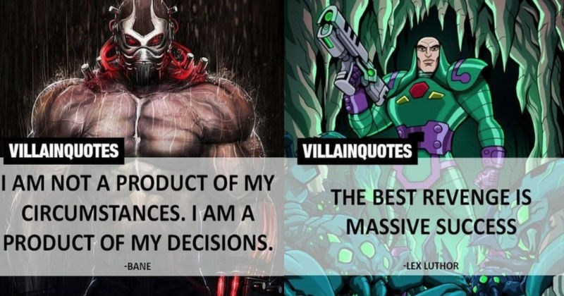 Collection of quotes from iconic comic book villains.