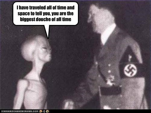 adolf hitler alien douchebags evil nazis space - 3617132288