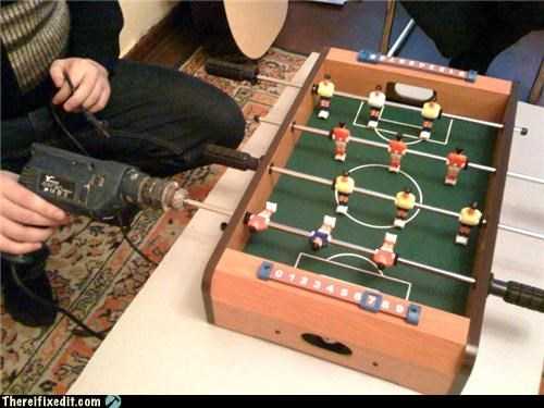foosball futball make it work soccer
