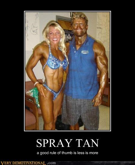 bikini body building gross Less Is More muscles rules spray tan Terrifying