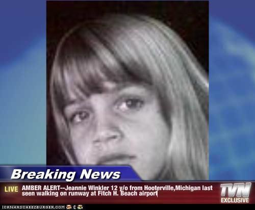 Breaking News Amber Alert Jeannie Winkler 12 Y O From