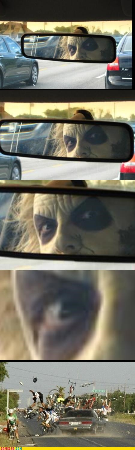beetlejuice,bike accident,creepy,driving,i accidentally,the internets