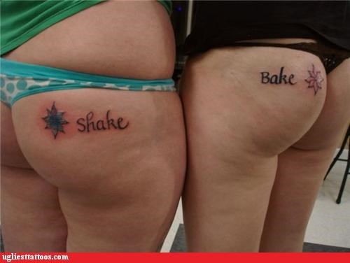 BFFs,butt tats,words