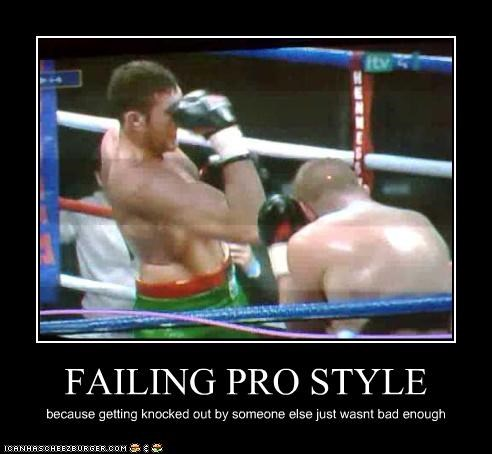 FAILING PRO STYLE because getting knocked out by someone else just wasnt bad enough