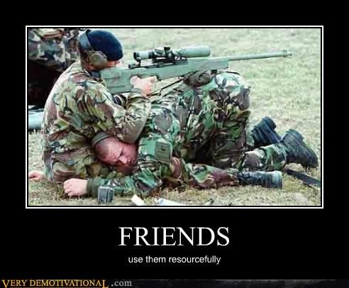 FRIENDS use them resourcefully