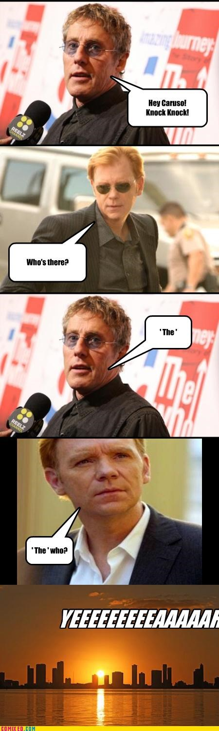 celebutard classic rock csi Horatio puns roger daltrey the who TV yeah