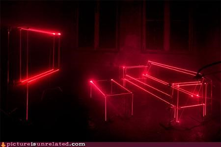 dark furniture lasers wtf