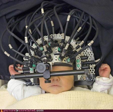 baby,born,cybernetics,electronics,wtf
