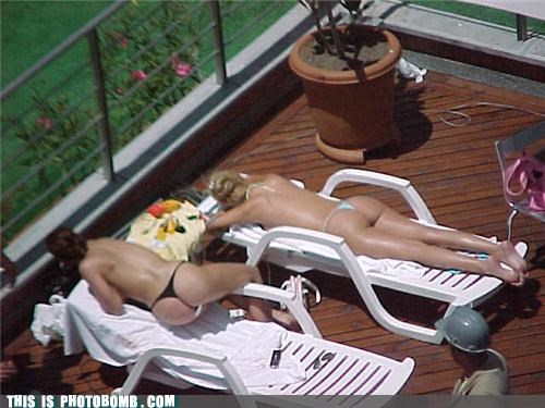 babes bikini butts Charlie Sheen emilio estevez men at work photobomb - 3624198912