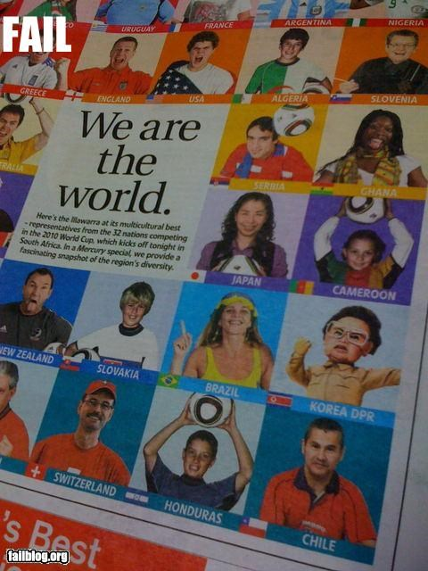 We Are the World (including the world of Team America) The Illawarra Mercury sues a stock photo of a typical North Korean