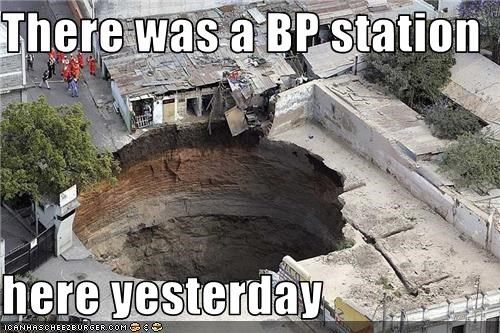 bp gas station guatemala sinkhole