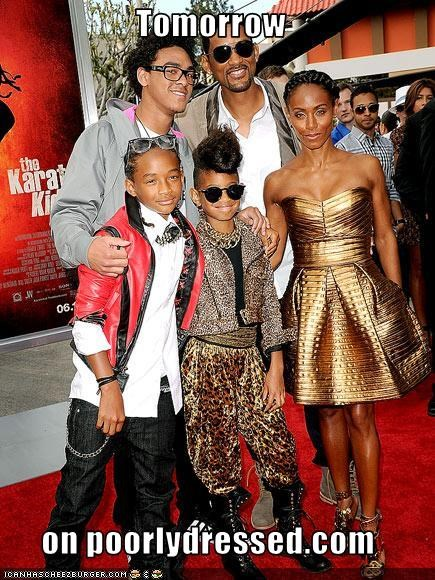 family,fashion,Jada Pinkett-Smith,jaden smith,movies,premieres,red carpet,Smith family,the karate kid,will smith,willard christopher smith iii