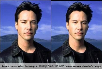 actors,angry,celeb,happy,keanu reeves