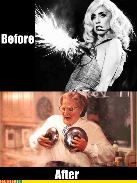 boobs celebutard fire From the Movies lady gaga mrs doubtfire robin williams - 3624974336