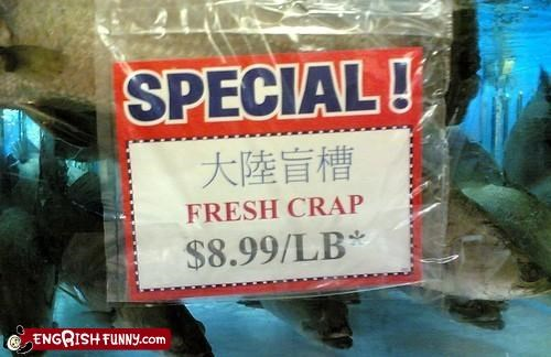 carp crap fish typo