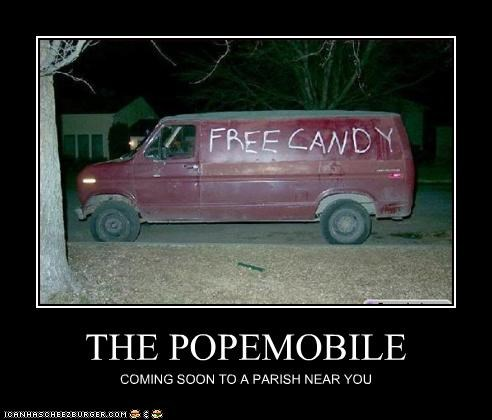 THE POPEMOBILE COMING SOON TO A PARISH NEAR YOU