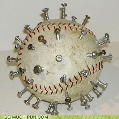 baseball cartoons puns screwball tools - 3626881536