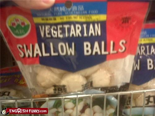 balls food swallow vegetarian