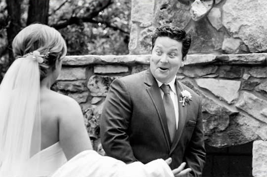 Brooms surprised to see their beautiful brides