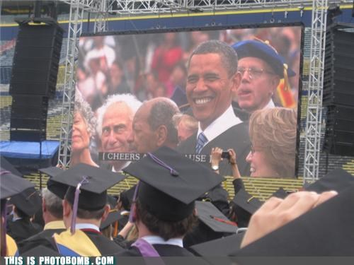 celeb obama photobomb politics president University of Michigan - 3628868096