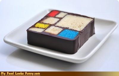 art,cake,modern art,mondrian,Piet Mondrian,squares,Sweet Treats