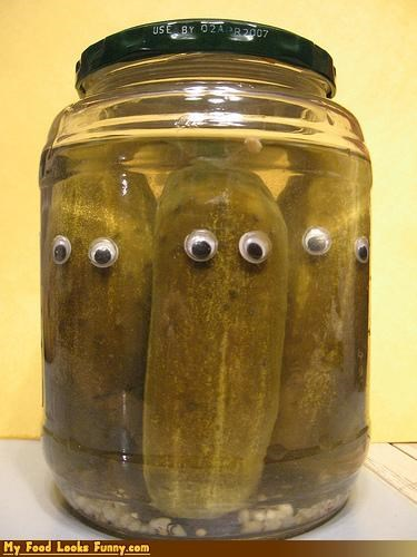 brine eyes fruits-veggies googly eyes jar pickles pickling - 3631496960