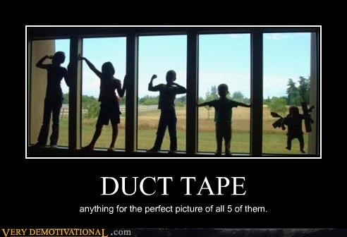 duct tape family hilarious kids Parenting Fail pictures portraits - 3631730688