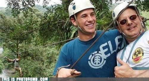 Awkward,dudes,jungle,plants,ropes,woods,zip line
