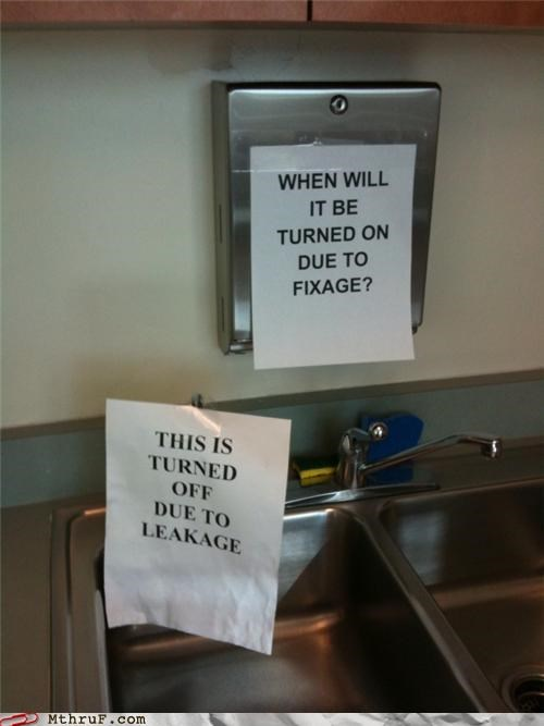 Facilities fail