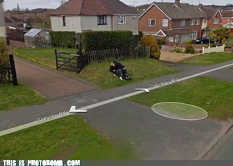 caught in the act google maps grass making out puns - 3632998656