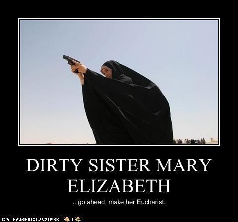 guns,nuns,sister