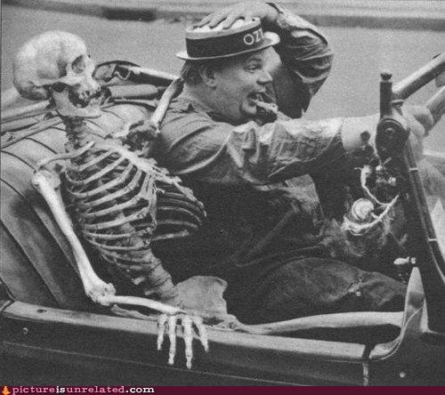 Bonesy,cars,skeleton,vintage,wtf