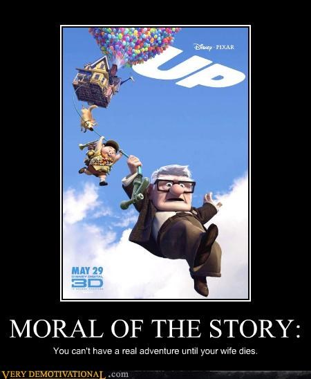 cartoons,cgi,Death,just-kidding-relax,life,morals,pixar,up