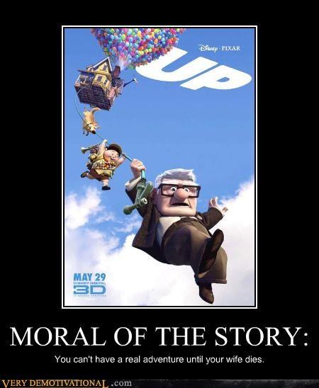 cartoons cgi Death just-kidding-relax life morals pixar up - 3634448128