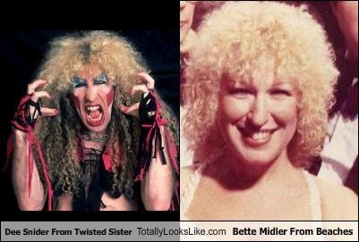 actress,band,beaches,Bette Midler,dee snider,makeup,Twisted Sister