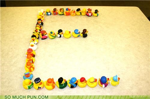 cute ducks letter puns rubber - 3636127232