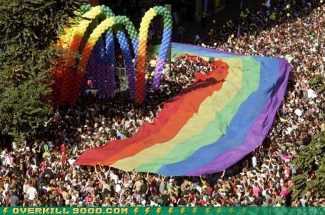 gay pride OverKill 9000 parade rainbow wtf - 3637536256
