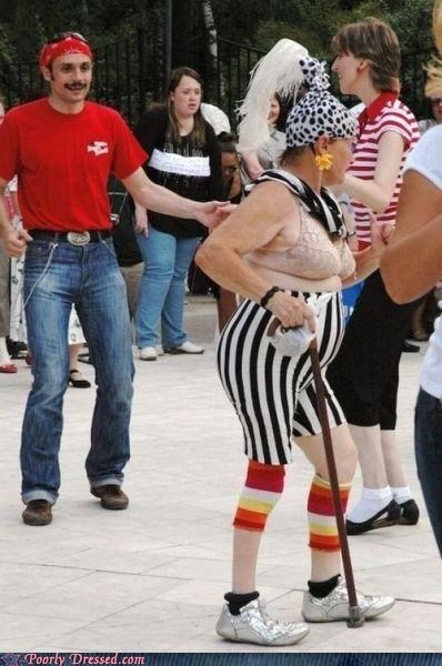 confusing,stripes,the elderly,your bra is showing