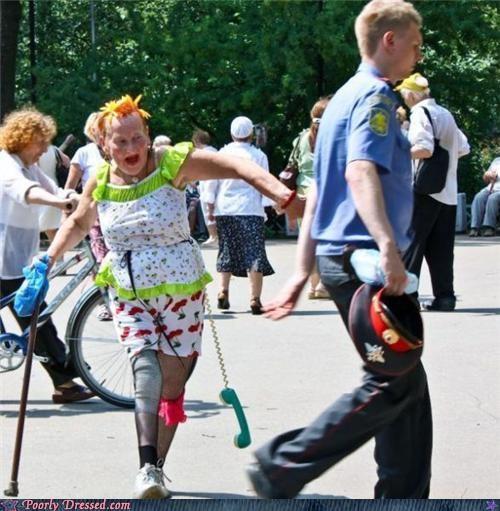 clash of the patterns orange hair the elderly - 3637767168